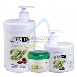 Регенерираща и подхранваща маска за коса с Арган и Маслина, Linea Bio