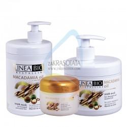 Маска за силно увредена и третирана коса с Макадамия, Linea Bio