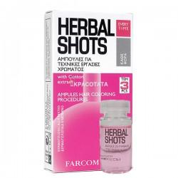 Ампули за боядисана коса - HERBAL SHOTS, 3 шота х 10 мл.
