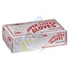 Латексови ръкавици с талк за еднократна употреба